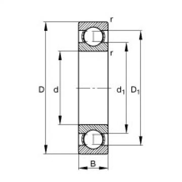 Deep groove ball bearings - 61876-M