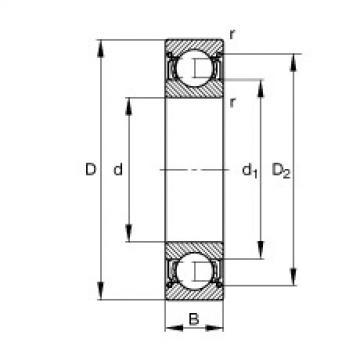 Deep groove ball bearings - S604-2Z