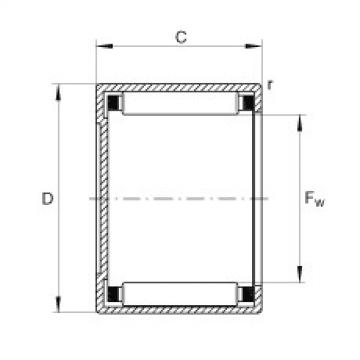 Drawn cup needle roller bearings with closed end - BCH1816