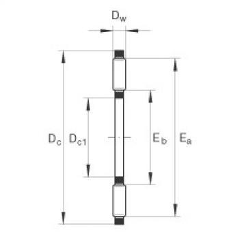Axial needle roller bearings - TC1018