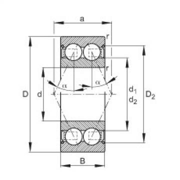 Angular contact ball bearings - 30/6-B-2Z-TVH