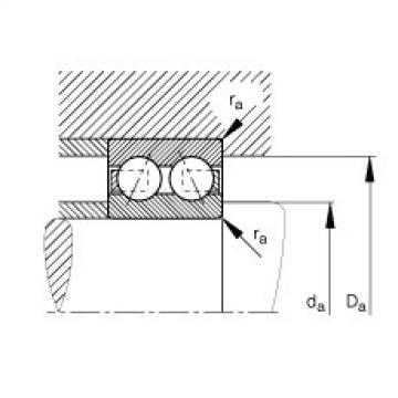 Angular contact ball bearings - 3217-B-TVH