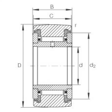 Yoke type track rollers - NATR50-PP