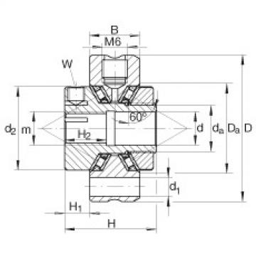 Axial conical thrust cage needle roller bearings - ZAXFM0535