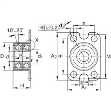 Angular contact ball bearing units - ZKLR0624-2Z