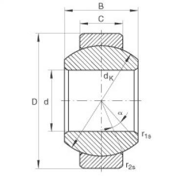 Radial spherical plain bearings - GE8-FO