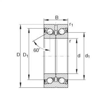 Axial angular contact ball bearings - ZKLN0624-2RS-XL