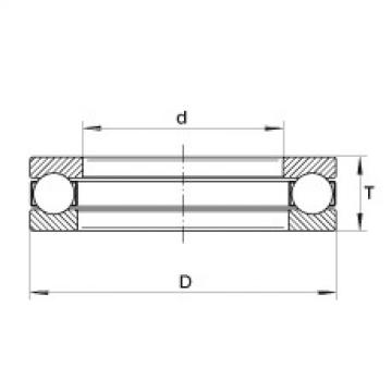 Axial deep groove ball bearings - W1-1/8