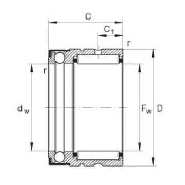 Needle roller/axial ball bearings - NX25-Z-XL