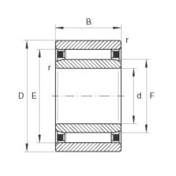 Needle roller bearings - NAO9X22X12-TV-XL