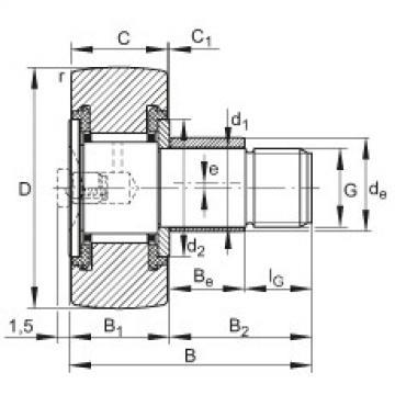 Stud type track rollers - KRE19-PP