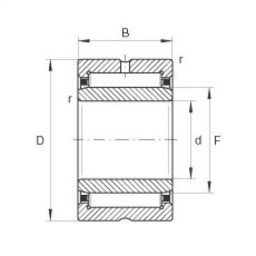 Needle roller bearings - NKI55/25-TV-XL