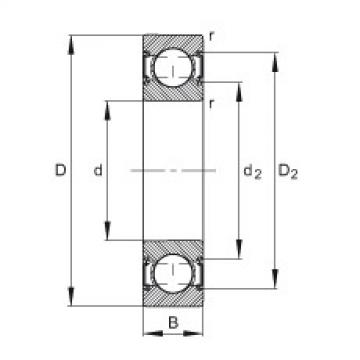 Deep groove ball bearings - 6203-C-2HRS