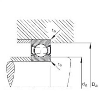 Deep groove ball bearings - 6204-C-2HRS
