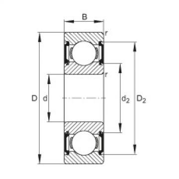 Deep groove ball bearings - 6210-C-2BRS