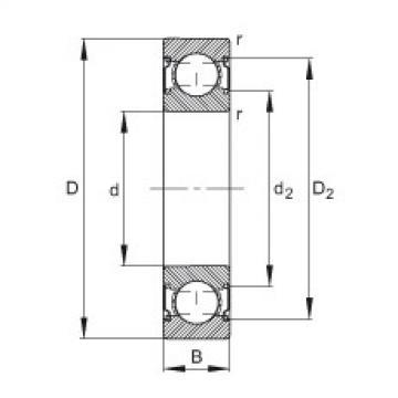 Deep groove ball bearings - 6206-C-2Z