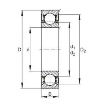 Deep groove ball bearings - 61910-2RSR
