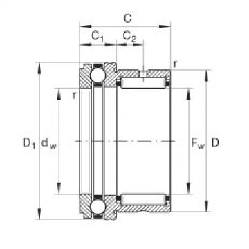 Needle roller/axial ball bearings - NKX10-TV-XL