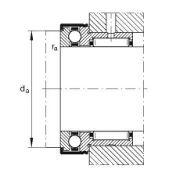 Needle roller/axial ball bearings - NKX70-XL