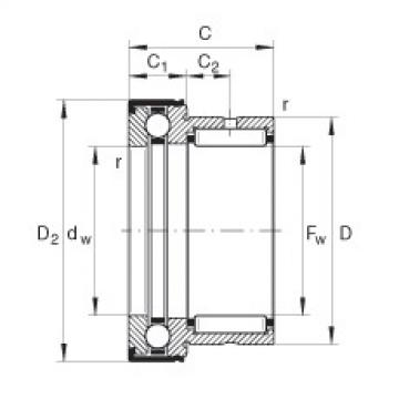 Needle roller/axial ball bearings - NKX20-Z-XL