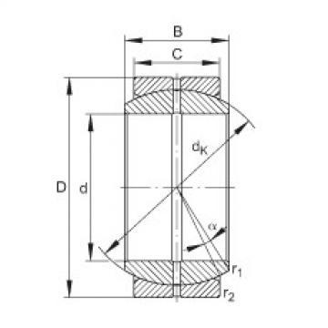 Radial spherical plain bearings - GE70-DO