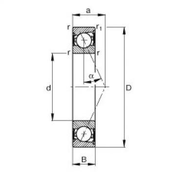Spindle bearings - B7215-E-2RSD-T-P4S