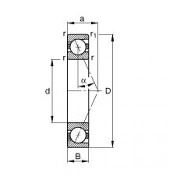 Spindle bearings - B71917-E-T-P4S
