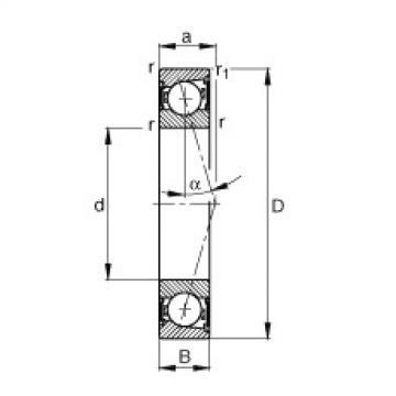 Spindle bearings - B7205-C-2RSD-T-P4S