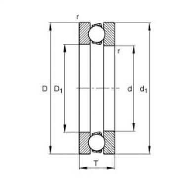 Axial deep groove ball bearings - 51417-MP