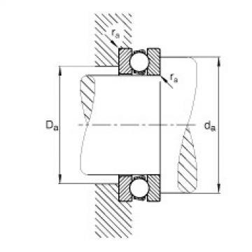 Axial deep groove ball bearings - 51140-MP