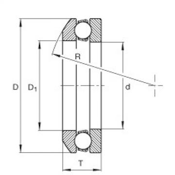 Axial deep groove ball bearings - 4114
