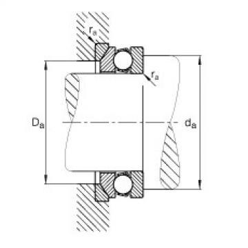 Axial deep groove ball bearings - 53206 + U206