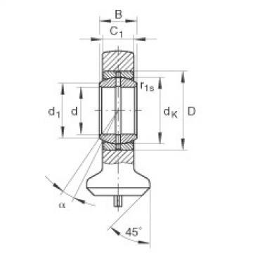 Hydraulic rod ends - GK45-DO