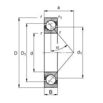 Angular contact ball bearings - 71811-B-TVH