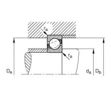 Angular contact ball bearings - 71810-B-TVH