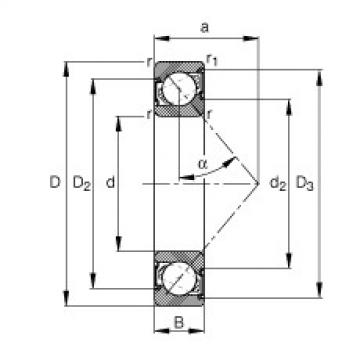Angular contact ball bearings - 7210-B-XL-2RS-TVP