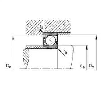 Angular contact ball bearings - 7214-B-XL-2RS-TVP
