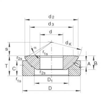 Axial spherical plain bearings - GE180-AX