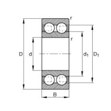 Deep groove ball bearings - 4212-B-TVH