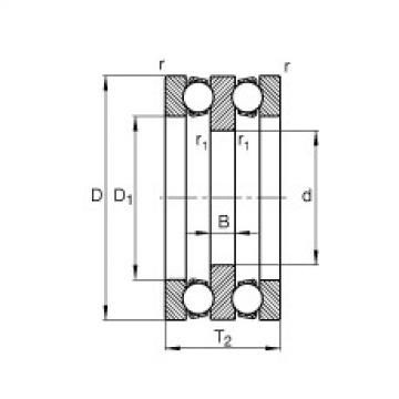 Axial deep groove ball bearings - 52218