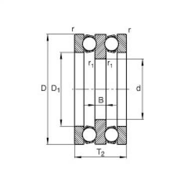 Axial deep groove ball bearings - 52312