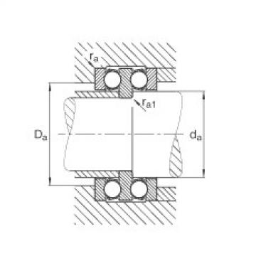 Axial deep groove ball bearings - 52202