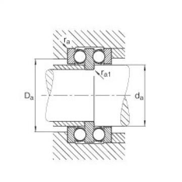 Axial deep groove ball bearings - 52204