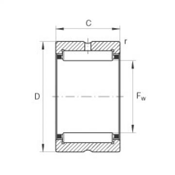 Needle roller bearings - NKS22-XL