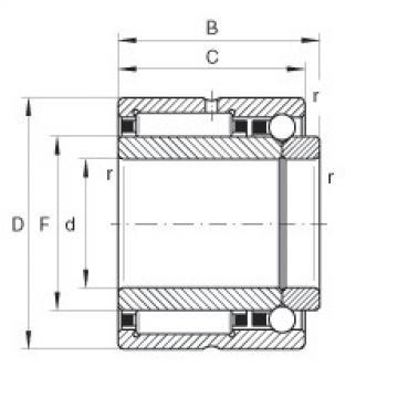 Needle roller/angular contact ball bearings - NKIB5911-XL