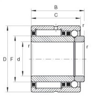 Needle roller/angular contact ball bearings - NKIB5914-XL