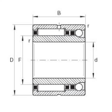 Needle roller/angular contact ball bearings - NKIA5906-XL
