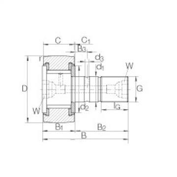 Stud type track rollers - KRV62-PP