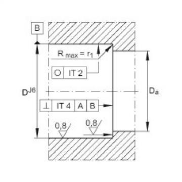 Axial angular contact ball bearings - 7603025-2RS-TVP