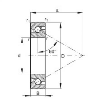 Axial angular contact ball bearings - BSB055120-T